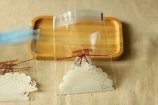 50ct DIY Handmade Lace Party Favor Candy Bread Loot Treat Cello Plastic Gift Bag