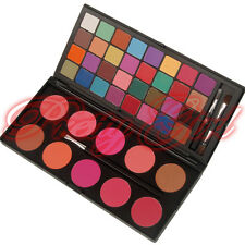 42 Double Stack Matte Eyeshadow & Blush Palette Eye Shadow Makeup Brush UK