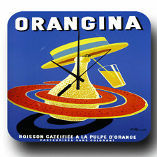 ORANGINA VINTAGE RETRO ADVERTISING METAL TIN SIGN STYLE WALL CLOCK