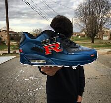 "Custom Nike Air Max 90 ""Paul Walker"" 1 OG Anniversary Red Blue 95 Jordan 5 Atmos"