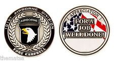 ARMY FORT CAMPBELL 101ST AIRBORNE APPRECIATION FOR JOB WELL DONE CHALLENGE COIN