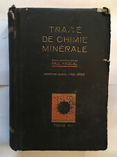 TRAITE DE CHIMIE MINERALE VOL 8 1933 PAUL PASCAL MASSON