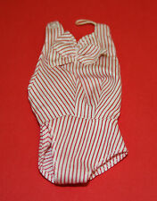 Vintage Barbie Reproduction #981 BUSY GAL Red & White BODY BLOUSE w Bow ~Beauty!