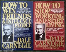 Dale Carnegie Self-Help 2-Book Lot: How to Win Friends & How to Stop Worrying HB