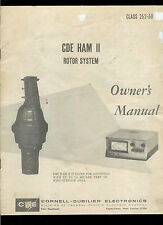 Rare Original Factory CDE HAM II Antenna Rotor System Owner's Manual CB HAM TV