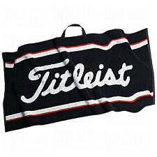 "New Titleist Players Golf Towel 16"" x 32"" Black White Red TA2ACPTWL"