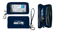 New Touch Smart phone Deluxe Wallet NFL Licensed SEATTLE SEAHAWKS Blue Embroider