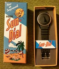VINTAGE, 80s  FOSSIL SUNDIAL TIMEPEICE MEN'S - SCUBA EDITION - SILICONE