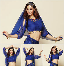 New Elegant Belly Dance Costume Lantern Blouse Long Sleeves bra Top 8 colors