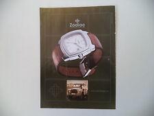 advertising Pubblicità 2002 OROLOGIO ZODIAC WATCH