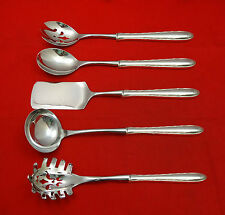 SILVER FLUTES BY TOWLE STERLING SILVER HOSTESS SET 5-PC HHWS CUSTOM MADE