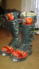 New Rock Boots 42 flame knee high