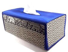 Tissue Napkins Box Case Cover Silk Blend-Bamboo Wicker Reed Thai Handicraft New