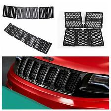 Front Honeycomb Matte Mesh Grille Inserts Cover For 2014-15 Jeep Grand Cherokee