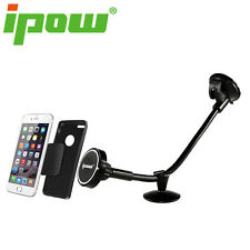 Ipow Magnetic Windshield Long Arm Car Mount Holder Cradle with Dashboard Magnet
