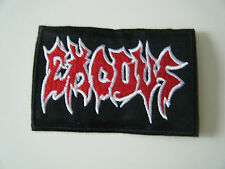 EXODUS PATCH Embroidered Iron On Sew On Heavy Thrash Metal Band Logo Badge NEW