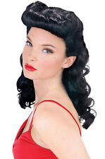 Burlesque Beauty Bettie Page Pin Up Girl Costume Wig - Black