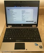 HP EliteBook 2540p Intel Core i7-L640 CPU @ 2.13GHz 4GB Laptop  CD DVD RW