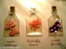 PAPYRUS VALENTINE CARD MAGIC BOTTLES BUTTERFLY KISSES SWEET NOTHINGS RHINESTONE
