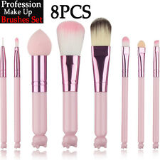 8PCS Kabuki Make Up Brushes Foundation Blusher Face Powder Eyebrow Brushes Kit