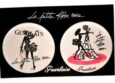 2 COLLECTIBLE GUERLAIN LA PETITE ROBE NOIRE LITTLE BLACK DRESS PINS EIFFEL TOWER