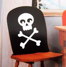 Pirate Skeleton Bones Skull Chair Cover Halloween Decor Party Haunted House Seat
