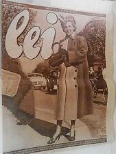 RIVISTA LEI 1949 Jerry Brondfield Maria Vitali Eleanor Gilchrist Palto Grisi di