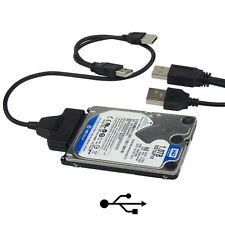 "USB 2.0 To SATA Converter Adapter Cable For 2.5"" Hard Drive Disk HDD Laptop US"