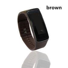 Cool Brown Men & Women Sport LED Waterproof Rubber Bracelet Digital Wrist Watch