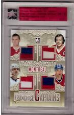 MAURICE RICHARD COURNOYER CARBONNEAU MULLER ITG Leaf Ultimate Jersey GOLD #1/1