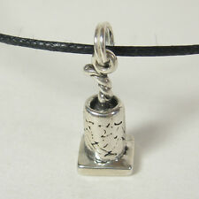 Fire Cracker Pendant Charm Necklace Sterling Silver Black Cord USA 4th of July