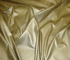 "vinyl Stretch faux leather Clothing Gold Two Way fabric per yard 58"" wide"