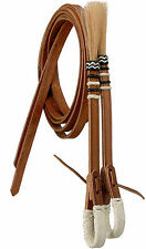 Royal King Braided Natural Rawhide Split Reins Horse Tack Equine 45-864