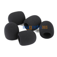 10pcs Pack Handheld Stage Microphone Grill Windscreen Foam Mic Cover 75x45mm