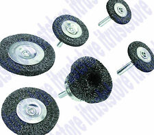 """Steel Round Wire Cup Brush Wheel for Power Tool Drill 1/4"""" Shank Cupbrush 6 Pc"""