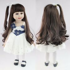"CHEAP 18"" Long Hair Girl Lifelike Doll Soft Silicone Vinyl Reborn Baby Dolls Toy"