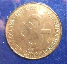 1986 WORLD EXPOSITION VANCOUVER,CANADA MEDALLION.
