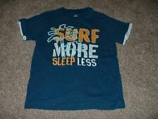 Gymboree Little Boys Blue Surf More Sleep Less Shirt Top Size 5 5T Kids Summer