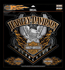 Harley Davidson Eagle Pinstripes with B&S Flames  11.5 inch (XXL) Decal