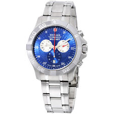 Wenger Regiment Sport Blue Dial Chronograph Stainless Steel Men's Watch 79218C