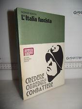LIBRO Giorgio Bocca L'ITALIA FASCISTA 1^ed.1973 Illustrazioni archivio Mondadori
