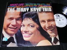 THE MARY KAYE TRIO Lounge Girl Singer LP RARITY NIGHT LIFE 20th C Fox White Labl