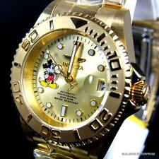 Invicta Disney Mickey Pro Diver Gold Plated NH35A Automatic Limited Ed Watch New