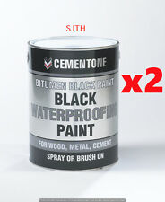 Bostik Bitumen Black Waterproofing Paint -1L x 2= 2ltr