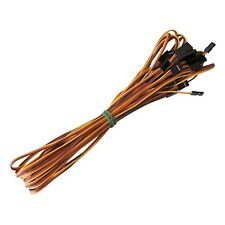 10x 1000mm Servo Extension Cord Cable Lead Wire JR Futaba 100cm 26AWG