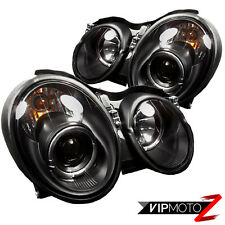 L+R Black Halo LED Projector Headlight Lamp M-BENZ CLK320 CLK430 CLK55 98-02 AMG