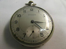 Vintage Moeris Antimagnetic 15 Jewels Pocket Watch Running! WW2 era? Swiss Made