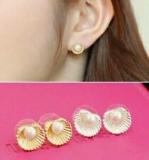 Korea Imitation Pearl Shell Earrings No Pierced Ear  Earrings