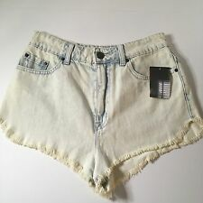 NEW BDG Super High Rise Waisted Dolphin Factory Cut Off Denim Jean Shorts 29 W