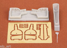 resin WWII P-39Q/N Airacobra wheel bays for ACADEMY 1:72 SBS 72012